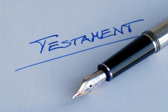Testament, Vermächtnis, Erbe, Nachlass, Erbschaft, Tod
