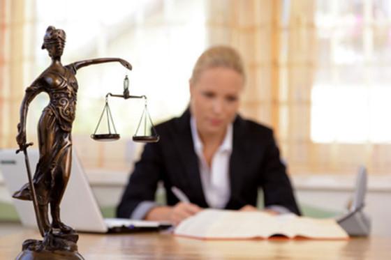Rechtsanwältin bei der Arbeit